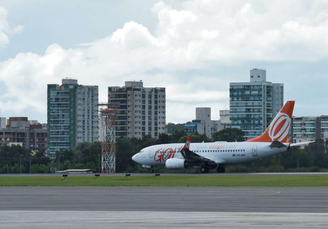 Avião da Gol no Aeroporto de Vitória . Crédito: Vitor Jubini - 24/04/2019