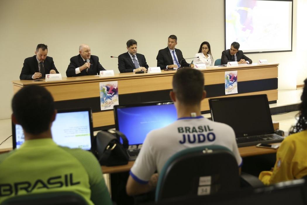 A Secretaria de Direitos Autorais e Propriedade Intelectual realiza, evento simbólico para marcar o Dia Mundial de Propriedade Intelectual e Esporte. Crédito: Agência Brasil