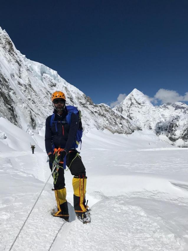 Juarez Gustavo já está no Everest . Crédito: Arquivo pessoal