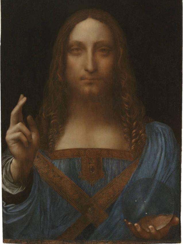 Salvator Mundi, tela atribuída a Leonardo da Vinci . Crédito: Reprodução