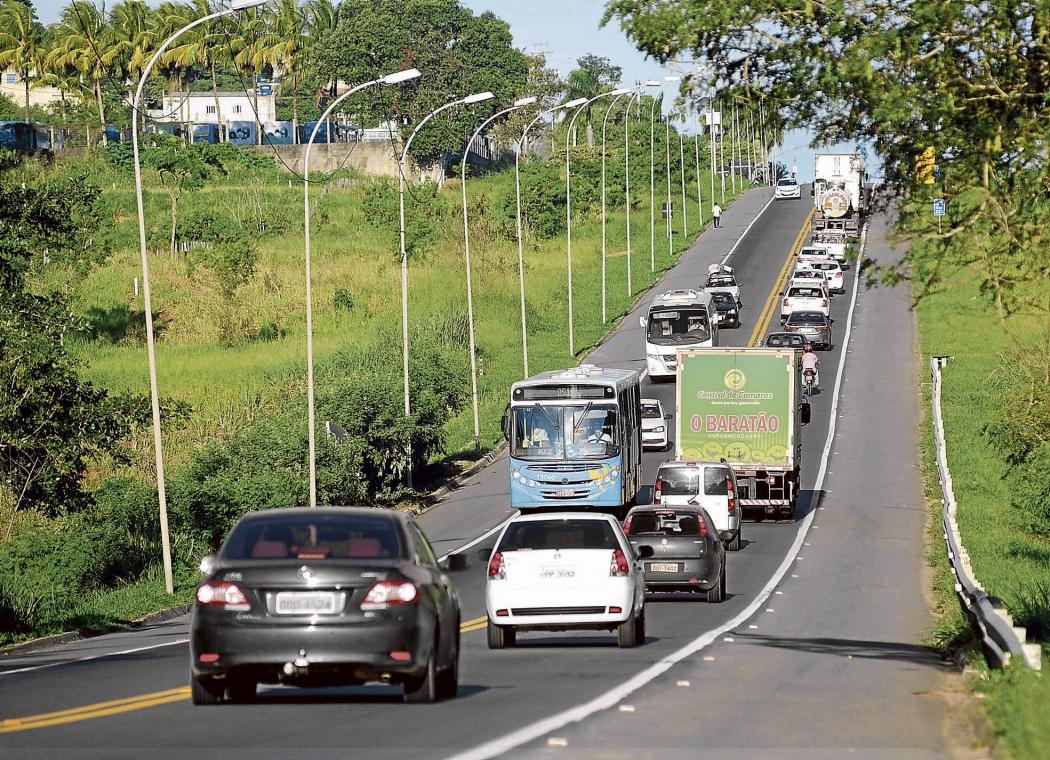 R 101 na Serra: concessão da rodovia está no sexto ano. Crédito: Vitor Jubini