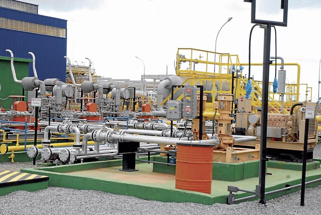 Unidade da Petrobras para tratamento e processamento de gás natural de Cacimbas, em Linhares. Crédito: Petrobras/divulgação