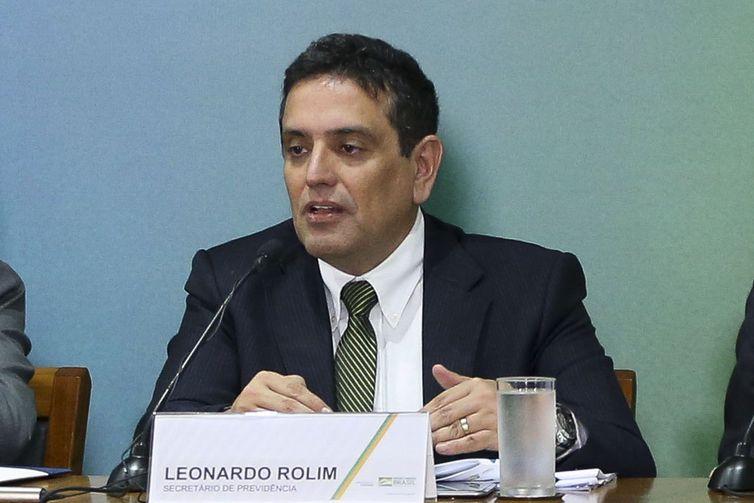 Secretário de Previdência, Leonardo Rolim . Crédito: Marcelo Camargo/Agência Brasil