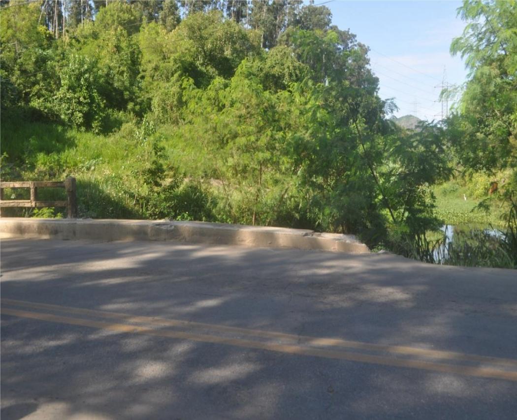 Ponte sobre o Rio Bubu não tem guarda-corpo por toda a extensão. Crédito: Divulgação | Abenc