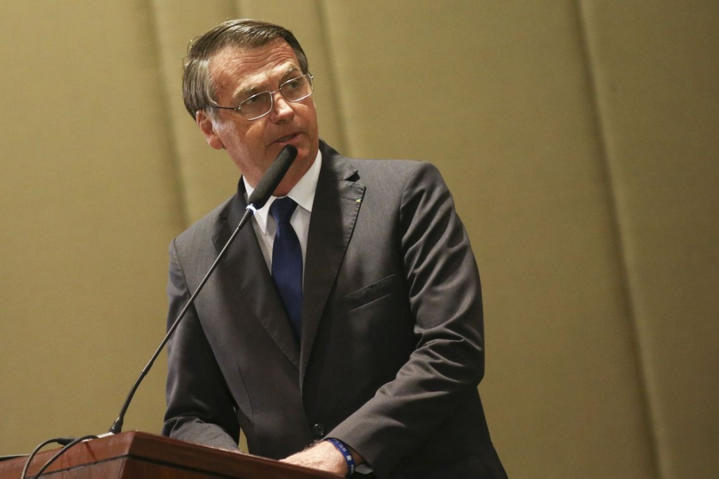 O presidente Jair Bolsonaro . Crédito: Antonio Cruz/ Agência Brasil