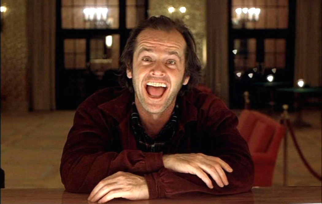 """Jack Nicholson em ação no filme """"O Iluminado"""" (1980). Crédito: Warner/Divulgação"""