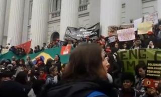 Protesto contra o corte de gastos na educação
