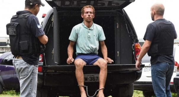 Felipe Rodrigues Gonçalves, 31 anos, o Alemão, preso por matar com um vergalhão a empresária Simone Venturini Tonani