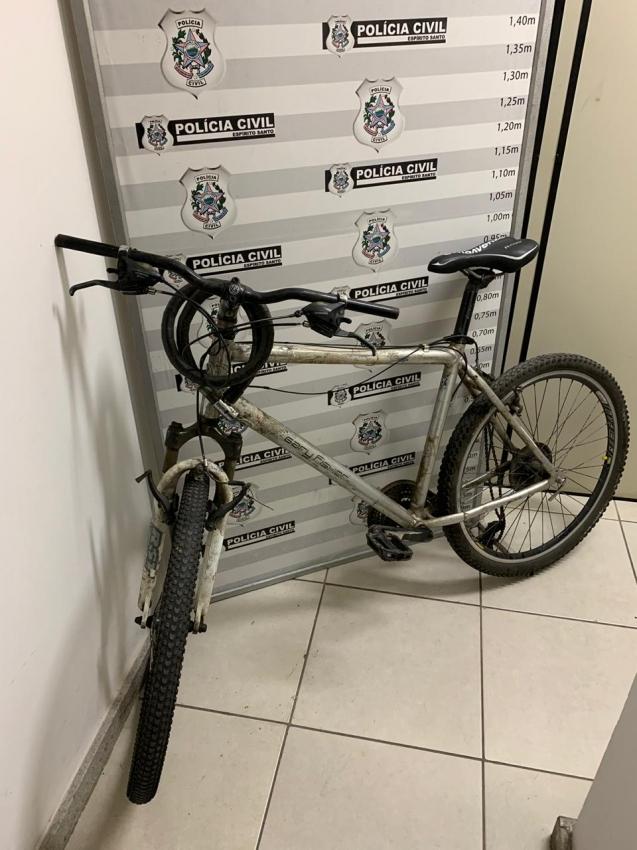 Bicicleta de Carlos Renato foi recuperada nesta quarta-feira (15). Crédito: Divulgação | Polícia Civil