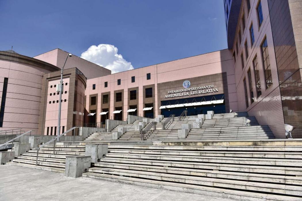 Fachada da Assembleia Legislativa do Espírito Santo, em Vitória. Crédito: Marcelo Prest