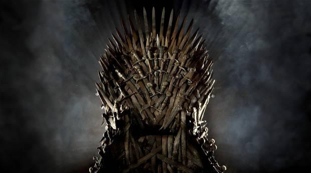 Trono de ferro de Game of Thrones. Crédito: Divulgação