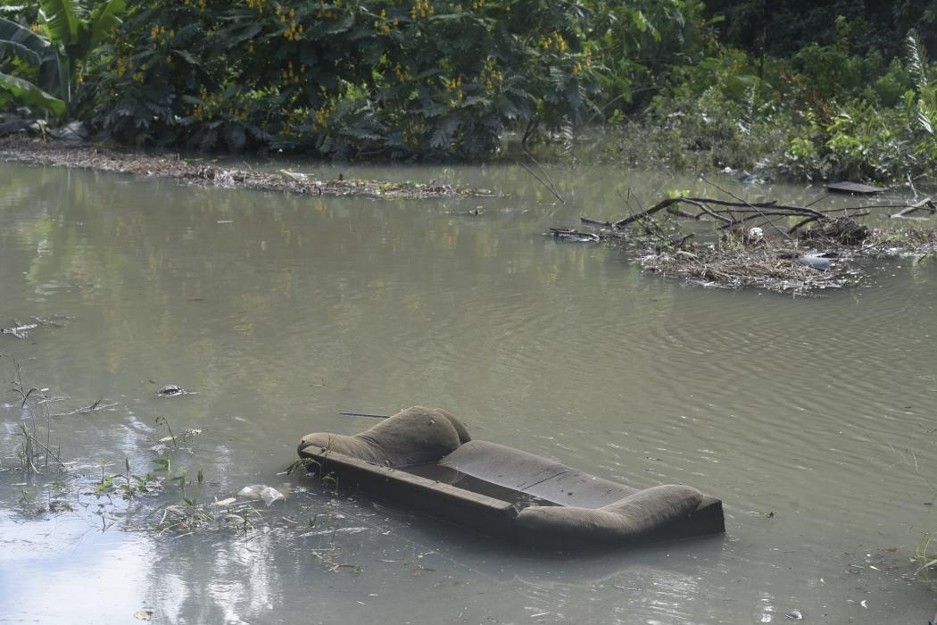 Casas de Hélio Ferraz continuam inundadas após lagoa transbordar. Crédito: Vitor Jubini | GZ