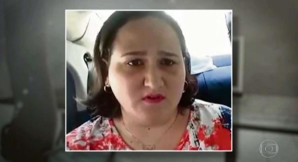 Gizelle confessou o crime dentro do carro da polícia