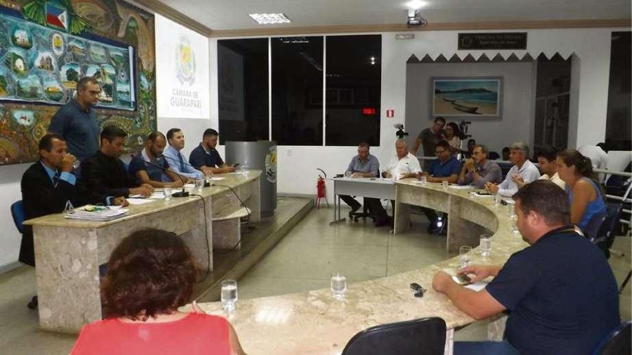 Sessão da Câmara de Guarapari. Crédito: Facebook/Câmara de Guarapari