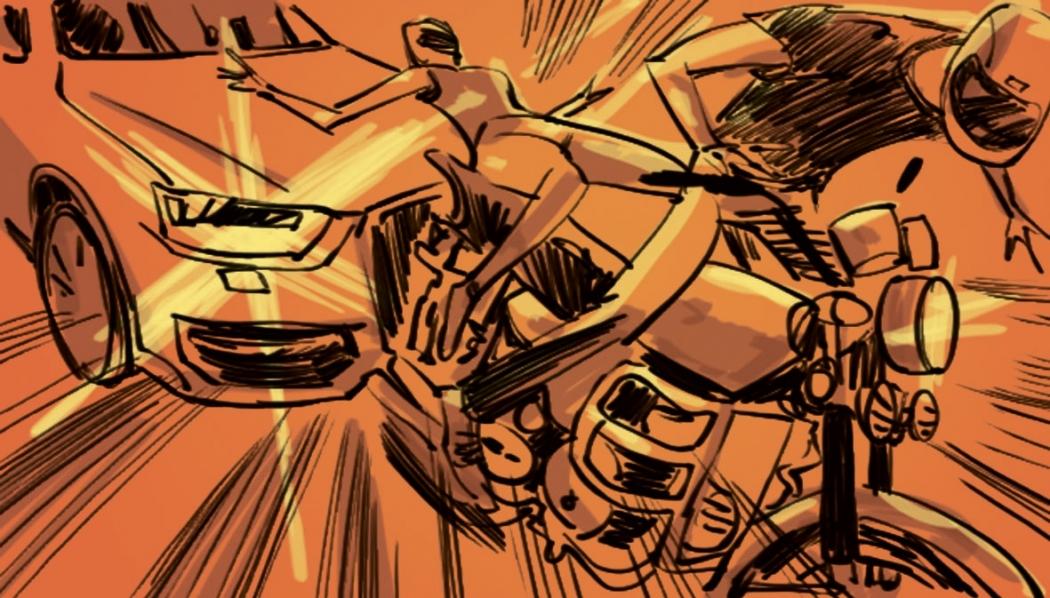 O casal, que estava em um motocicleta, foi atingido na traseira, por um dos veículos. Crédito: Arabson