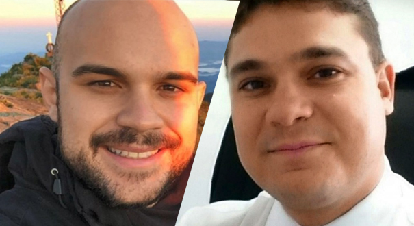 O estudante de Engenharia Oswaldo Venturini Neto, de 22 anos, e o advogado Ivomar Rodrigues Gomes Junior, de 34 anos, envolvidos em acidente com morte na Terceira Ponte. Crédito: Montagem