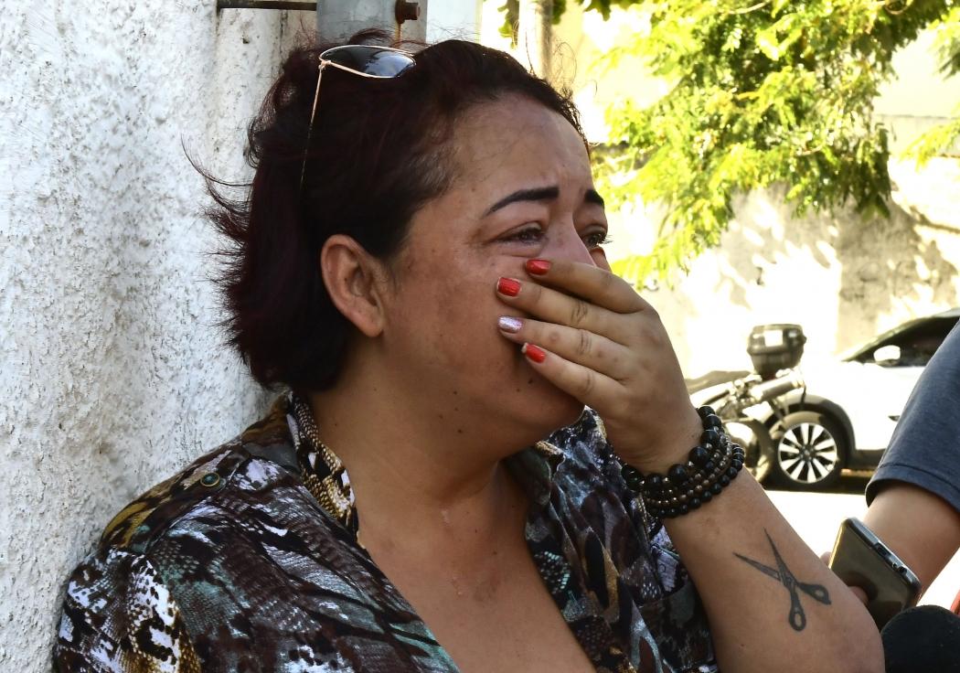 Vilma Gonçalves, mãe de Kelvin Gonçalves dos Santos, que teve a moto atingida na Terceira Ponte. Crédito: Bernardo Coutinho