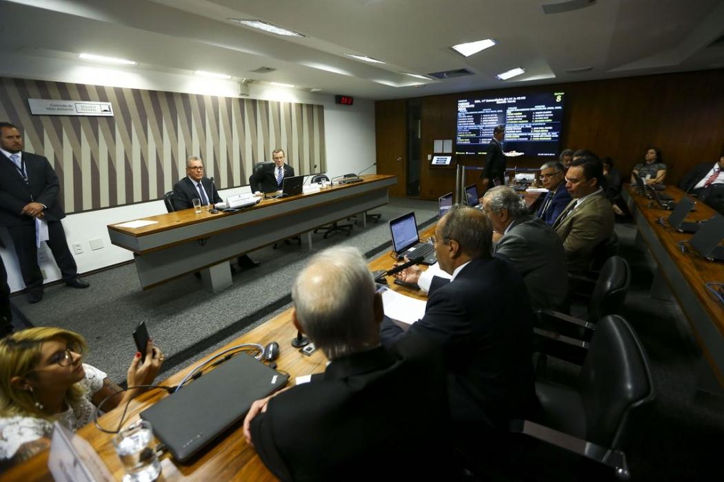 O ministro de Minas e Energia, Bento Albuquerque, participa de audiência pública na Comissão de Meio Ambiente do Senado. . Crédito: Marcelo Camargo/Agência Brasil