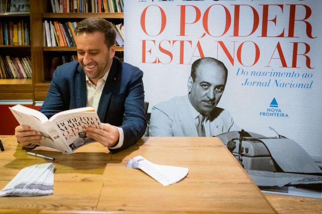 Jornalista Leonencio Nossa lança novo livro no auditório da Rede Gazeta. Crédito: Luiz Eduardo Finotti/Divulgação