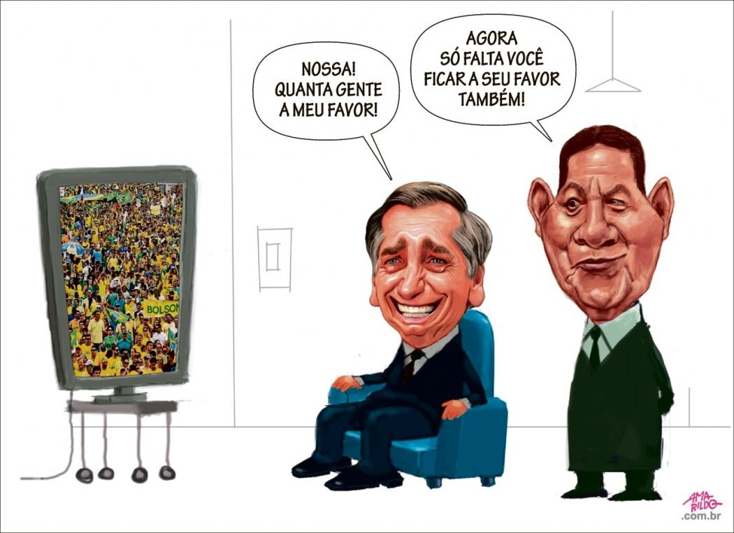 Charge do Amarildo - 27/05/2019. Crédito: Amarildo