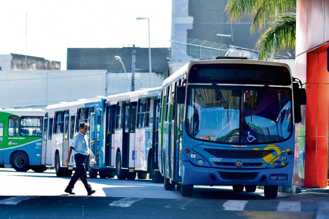 Terminal de São Torquato, em Vila Velha, onde suspeito foi detido . Crédito: Bernardo Coutinho | GZ