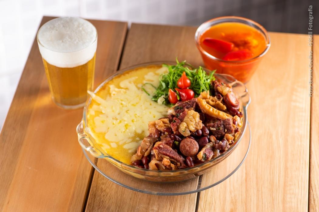Roda de Boteco 2019: Angu na Seca (Angu com dobradinha, carne seca e linguiça calabresa no feijão vermelho), do BAR DO ZÉ (VILA VELHA). Crédito: Bruno Coelho/Ecos Eventos