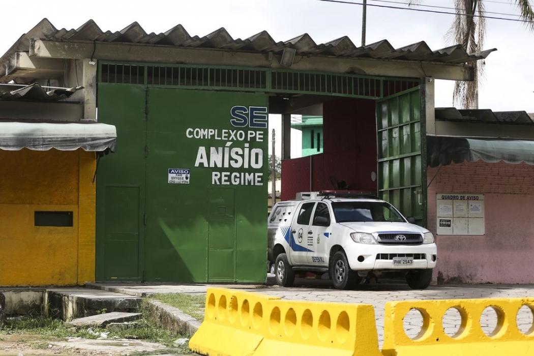 Portão principal do Complexo Penitenciário Anísio Jobim (Compaj), em Manaus . Crédito: Marcelo Camargo/Agência Brasil