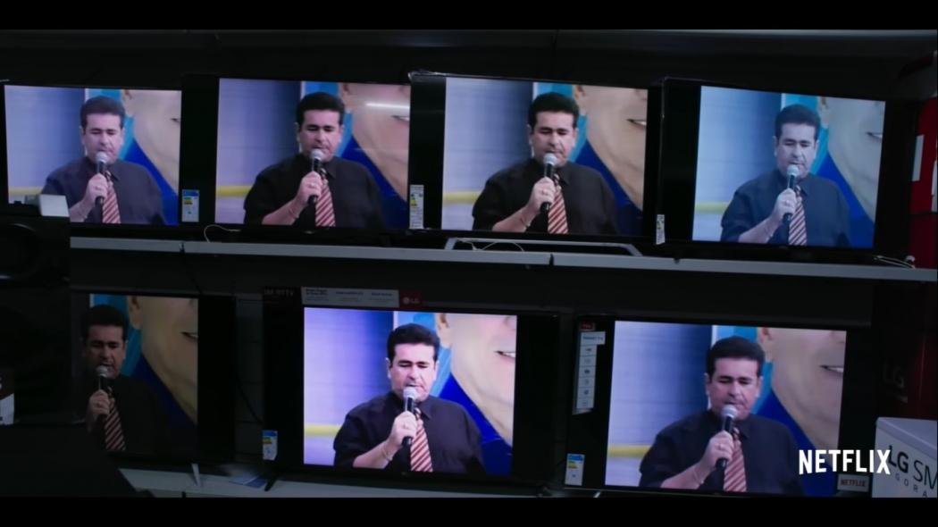 29/05/2019 - Série Bandidos na TV estreia no Netflix. Com mortes encomendadas, Wallace Souza era um sucesso e garantia a liderança na audiência com seu programa policial. Crédito: Reprodução/Netflix