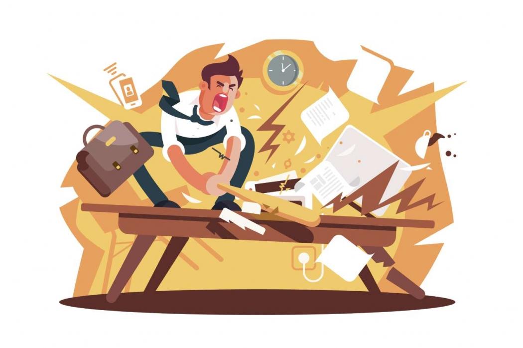 Burnout, estresse no trabalho, fadiga. Crédito: Divulgação / Shutterstock