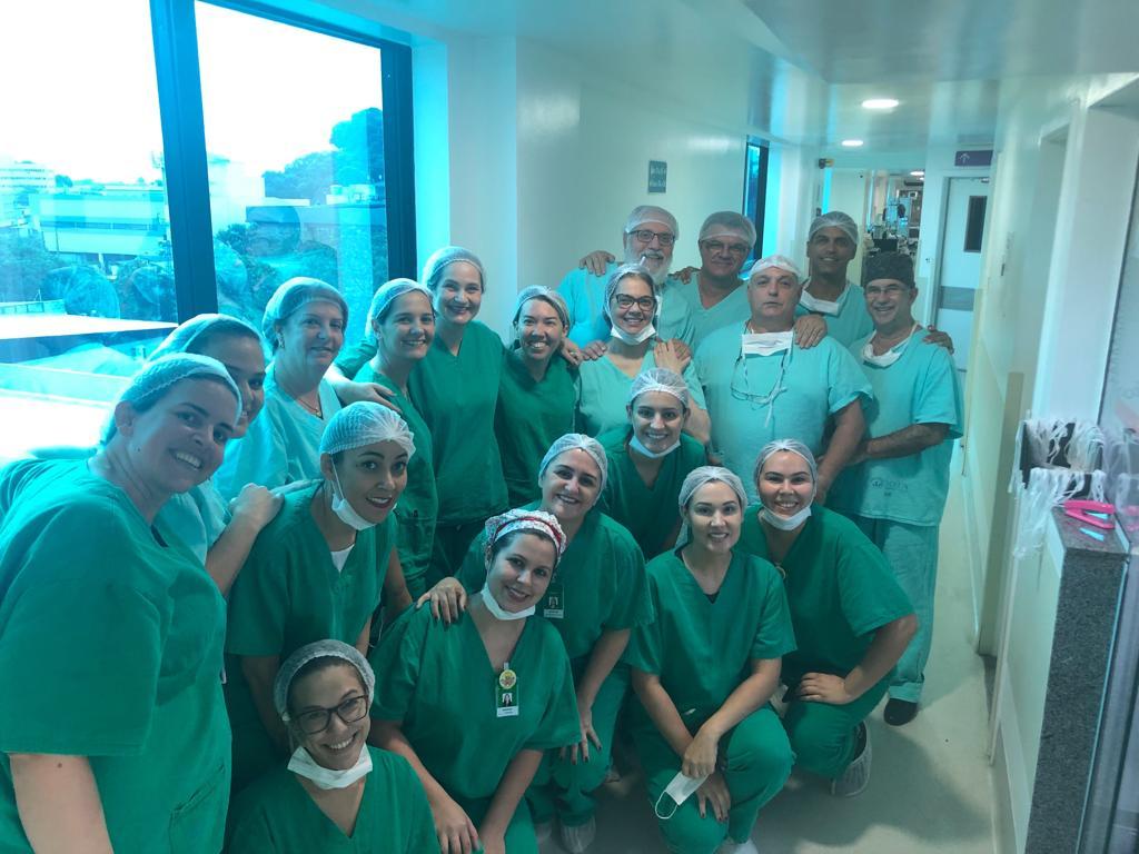 Equipe médica responsável pelo parto de quíntuplos em Vitória