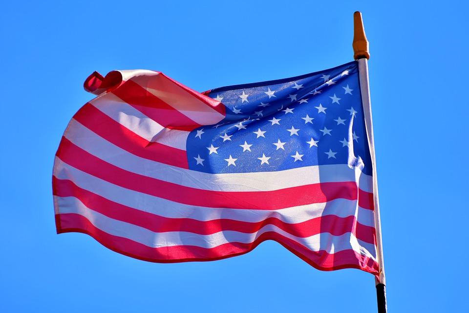 Bandeira dos EUA. Crédito: Pixabay