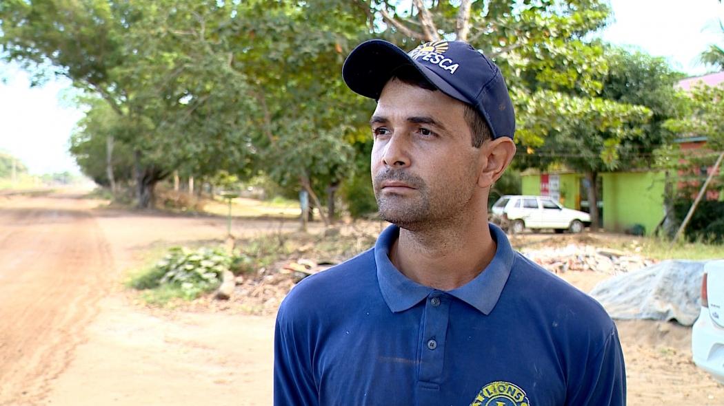 Dentre os pescadores da Vila Maria Ortiz, Marcos Guidoni foi um dos mais críticos à nota técnica divulgada pela Anvisa. Crédito: Reprodução | TV Gazeta Noroeste