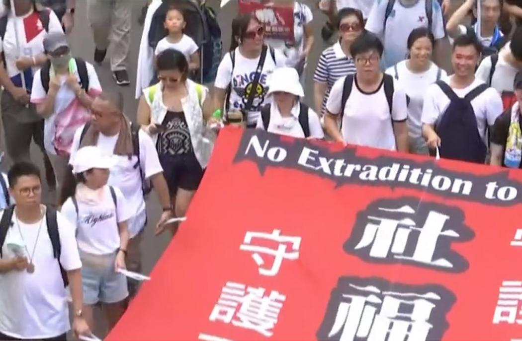 Protesto em Hong Kong, China. Crédito: Reprodução