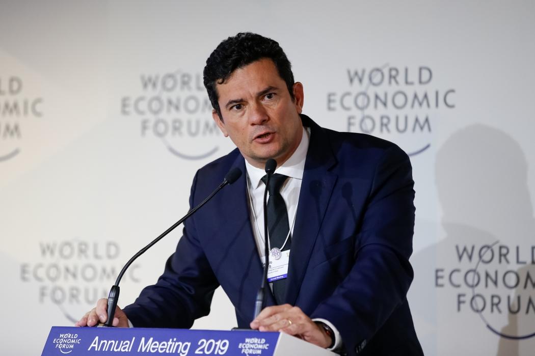 (Davos - Suíça, 23/01/2019) Palavras do Ministro de Estado da Justiça e Segurança Pública, Sérgio Moro.  Foto: Alan Santos/PR. Crédito: Alan Santos/PR