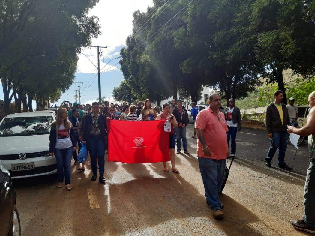 Greve continua em Jerônimo Monteiro e serviços públicos ficam prejudicados. Crédito: Divulgação