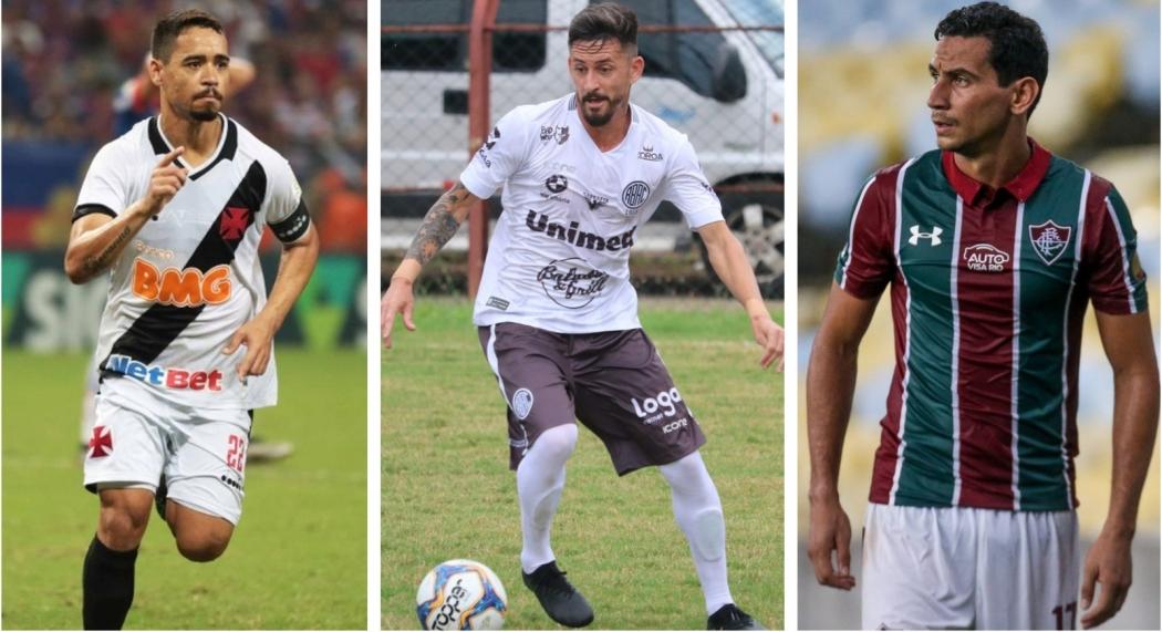 O Rio Branco, de Ronicley, está perto de medir forças contra o Vasco, de Pikachu e o Fluminense, de Ganso. Crédito: Montagem/GE/ES