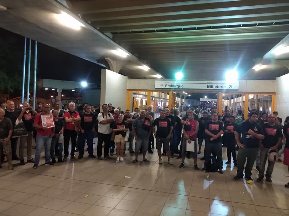 Sindicato dos Metroviários de Pernambuco confirmou que o grupo decidiu apoiar o movimento. Crédito: Sindmetro-PE/Divulgação