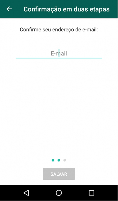 Verificação em duas etapas (oitavo passo)