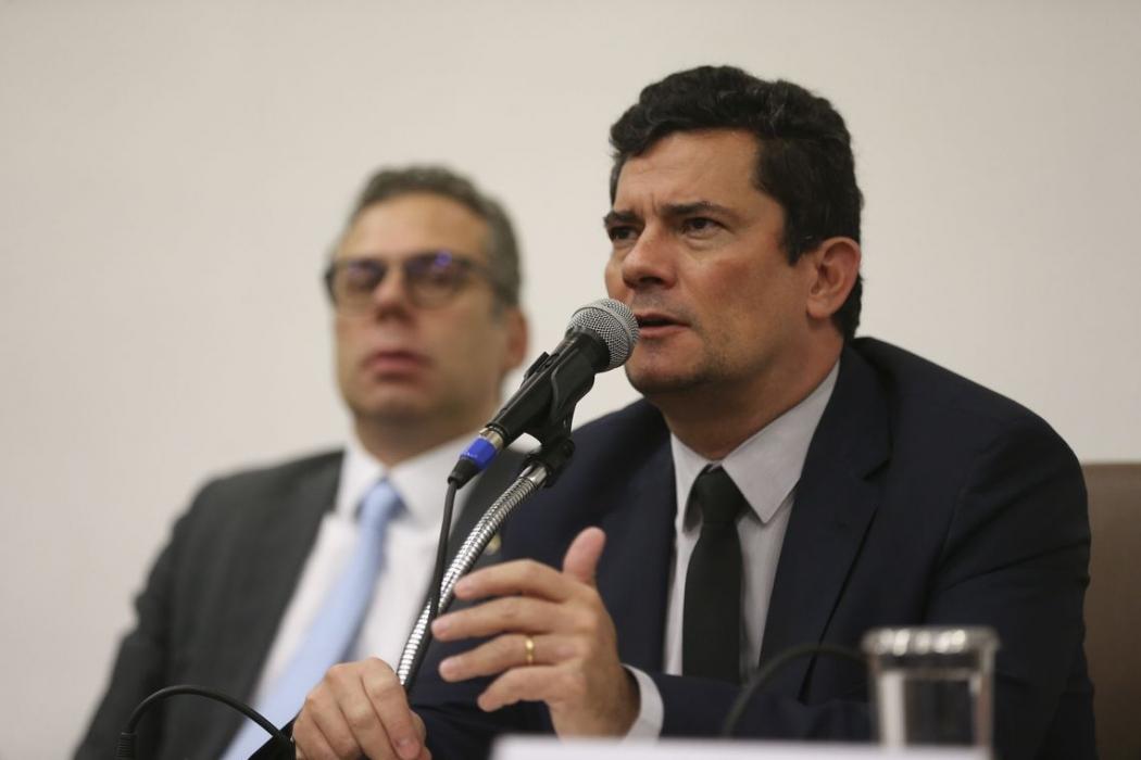 O ministro da Justiça e Segurança Pública, Sergio Moro . Crédito: José Cruz/Agência Brasil
