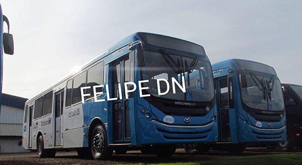 Novos ônibus do Transcol com ar-condicionado já estão em montadora. Crédito: Reprodução/Whatsapp