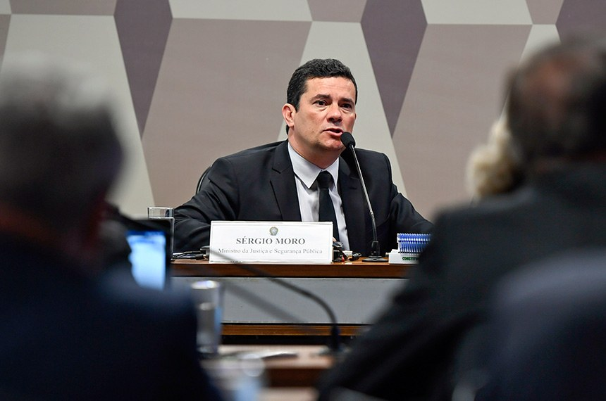 Moro em audiência na CCJ do Senado. Crédito: Edilson Rodrigues/Agência Senado