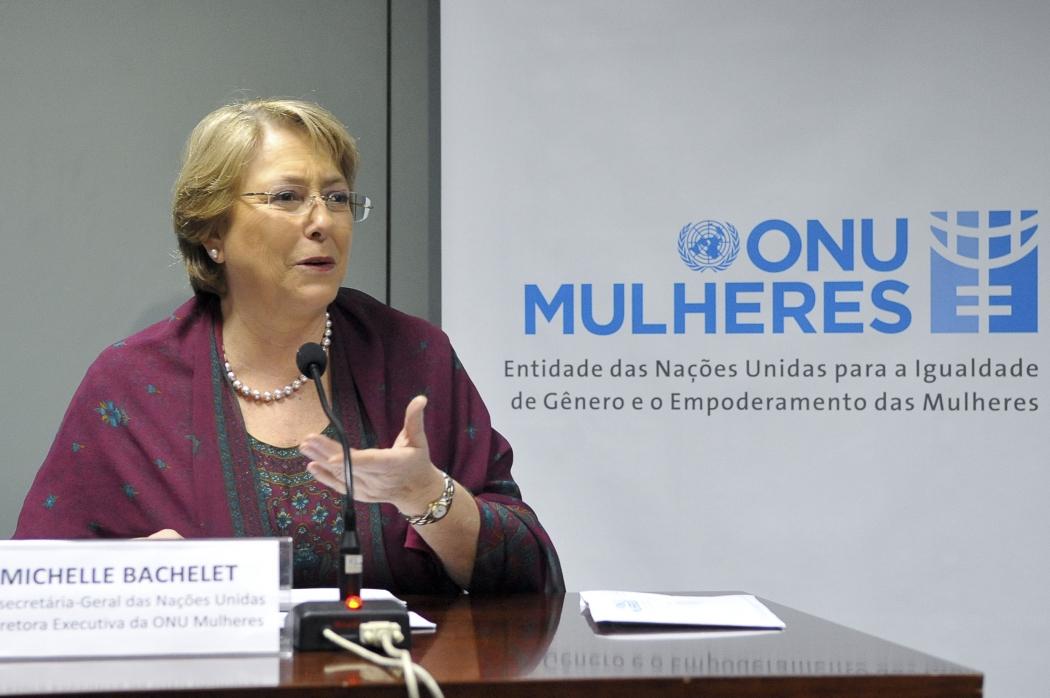 A chefe do Alto Comissariado da ONU para direitos humanos, Michelle Bachelet. Crédito: Antônio Cruz | Agência Brasil