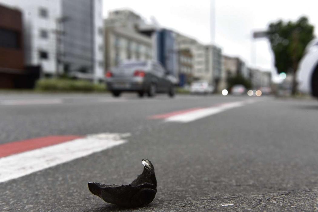 Avenida Dante Michelini, sentido Jardim Camburi, em Vitória, onde major da PM se envolveu e acidente e fugiu do local. Crédito: Fernando Madeira   GZ