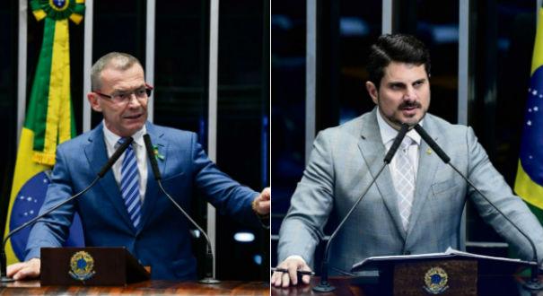 Fabiano Contarato e Marcos do Val. Crédito: Montagem   Gazeta Online