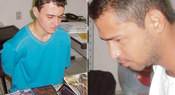 Mayderson Vargas Mendes e Ronald Ribeiro Rodrigues, na época com 21 e 22 anos, respectivamente. Crédito: Karlla Hoffmann