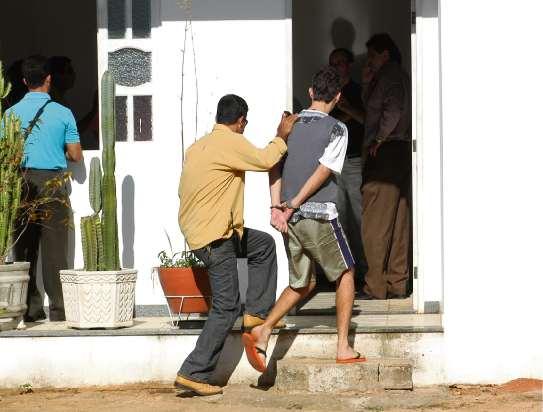 Mayderson Vargas, preso acusado de assassinar família Guedes. Crédito: Marcos Fernandez