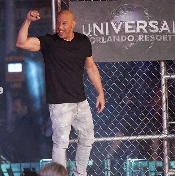O ator Vin Diesel. Crédito: Reprodução/Instagram @fastandfuriousmovie