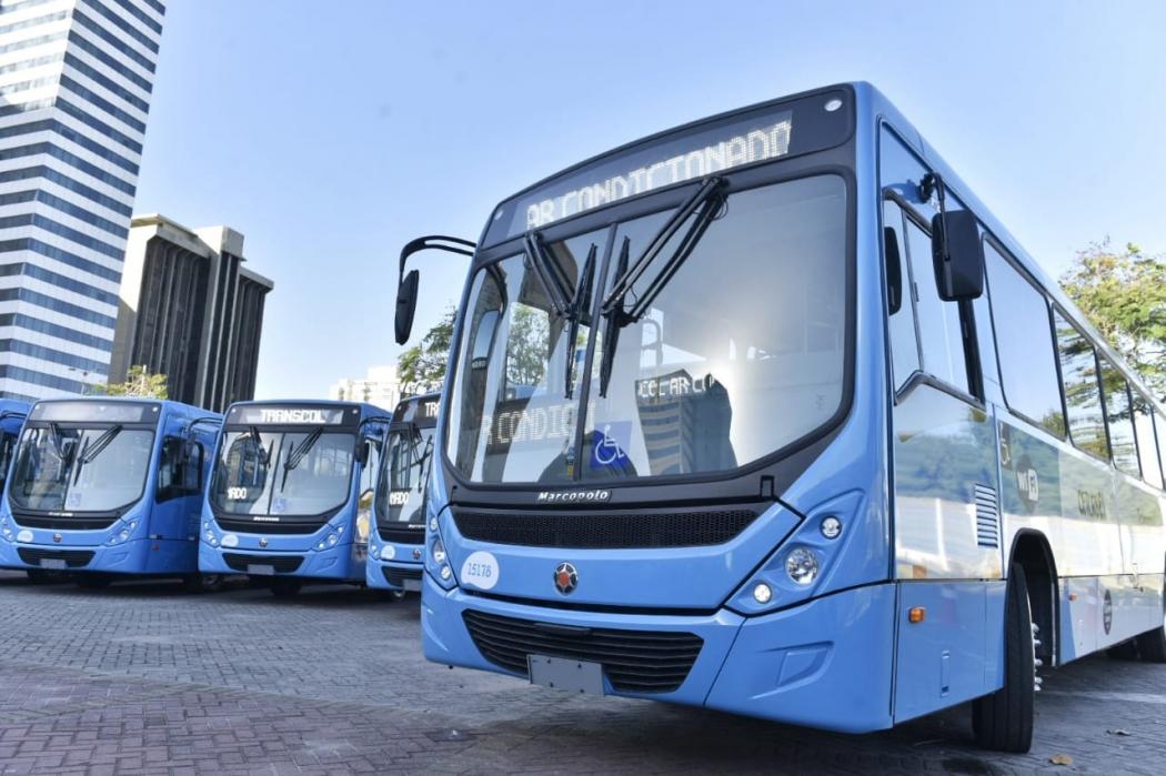 Novos ônibus do Transcol com ar-condicionado. Crédito: Fernando Madeira | GZ