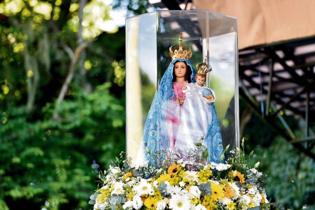 Nossa Senhora da Penha, no Campinho do Convento da Penha. Crédito: Fernando Madeira | GZ
