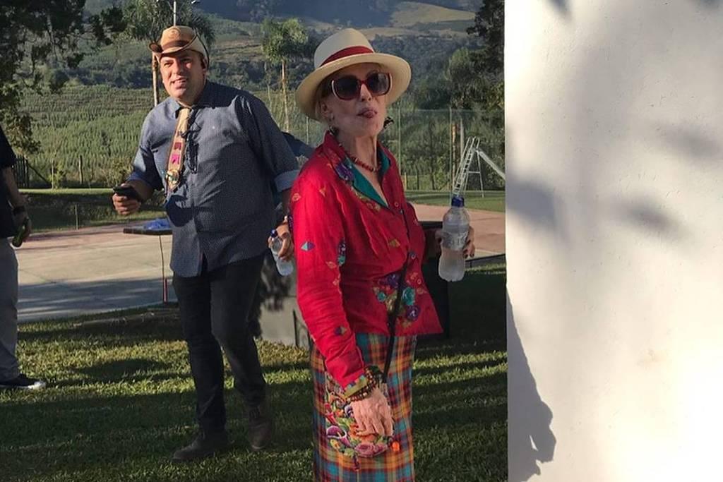 Ana Maria Braga em festa junina promovida em sua fazenda no interior de SP. Crédito: Instagram/ anamaria16